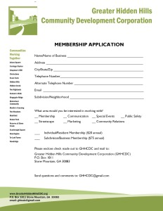 Membership Application 2015