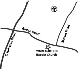 White Oak Church Map