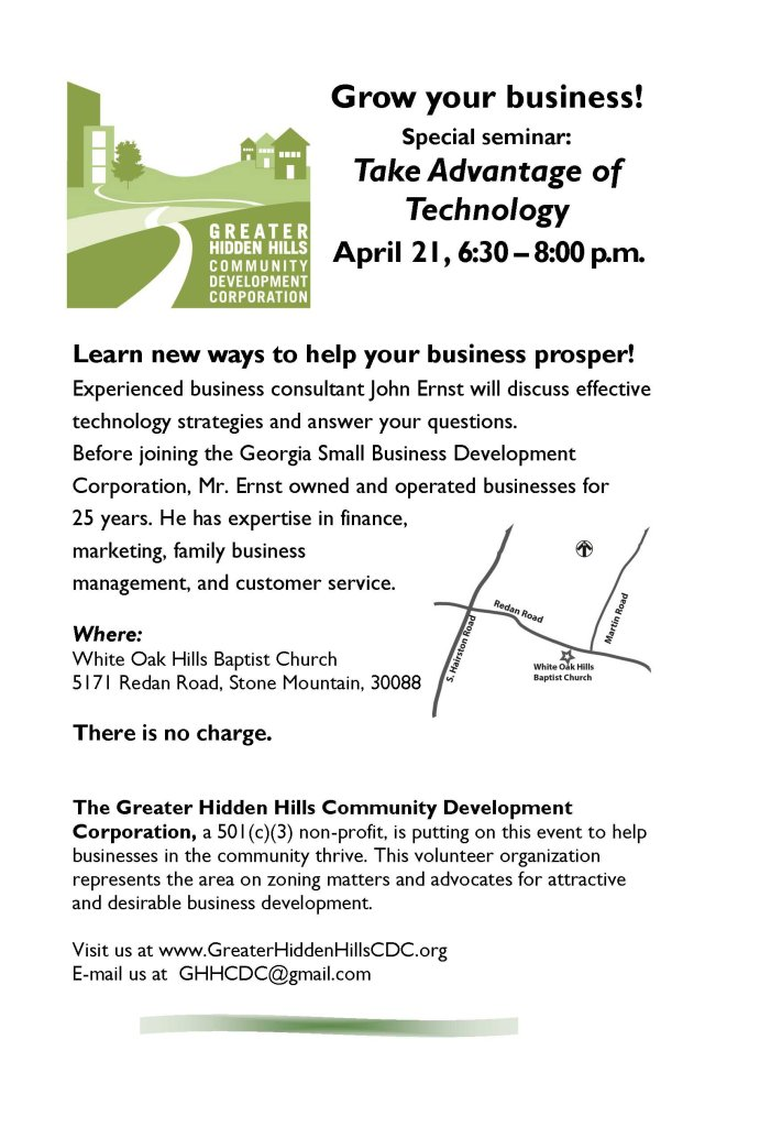 April 21 Business Seminar