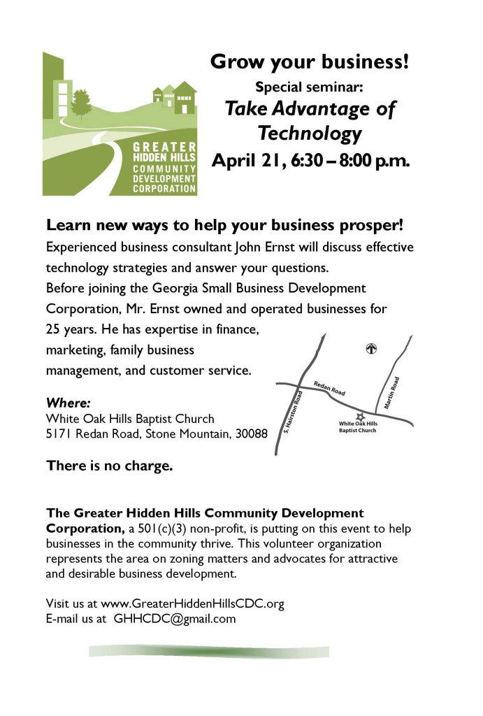 April 21 Business Seminar